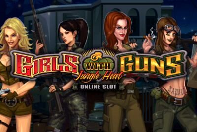 Microgaming Girls with Guns Jungle Heat Slot Logo 400x