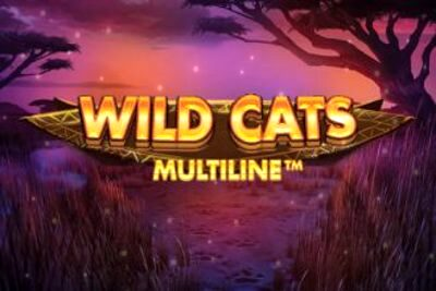 Wild Cats Multiline Slot Logo 330x