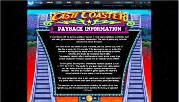 Cash Coaster Slot Online