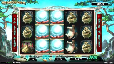Dragon Slot Machine with Orbs
