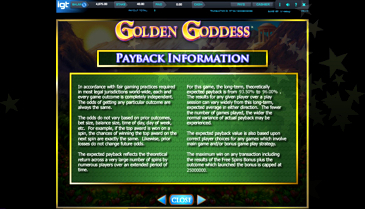 Free Casino Games Golden Goddess