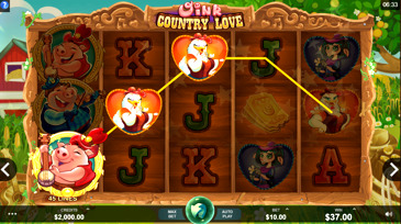 Oink Country Love Slot Machine