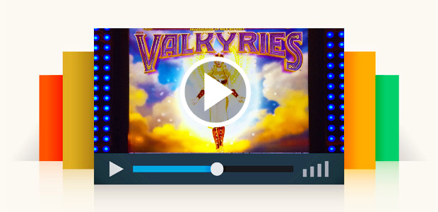 Valkyries Slot Machine, Live Play & Bonus
