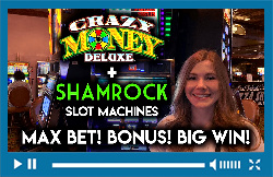 Shamrock! Slot Machine! Big Win Bonus! Progressive