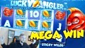 Big Win!!! Lucky Angler Huge Win - Netent - Free Spins (online