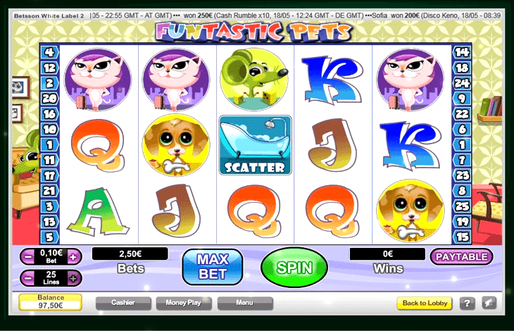 Funtastic Pets Slot Machine
