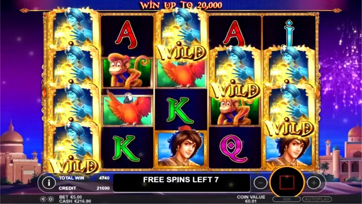 Genie Wishes Slot Machine