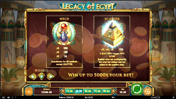 Legacy of Egypt Slot Machine